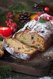 Stollen - traditional Christmas cake Royalty Free Stock Photo