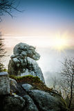 Stolowe Mountains National Park. In Kudowa-Zdroj, Poland Stock Images