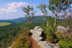 Stolowe Mountains in Silesia Royalty Free Stock Photo