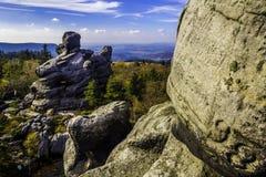 Stolowe Moutains. Takend on The Great Szczeliniec, Stolowe Mountains, Poland Stock Photos