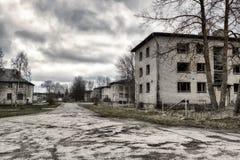 Stolpe-apokalyptisk stad Arkivbild