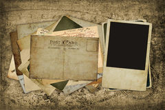 stolpe för bild för blanka kort för bakgrund gammal Arkivbilder