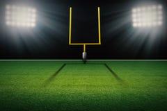 Stolpe för mål för fält för amerikansk fotboll Arkivbilder