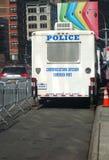 Stolpe för NYPD-kommunikationskommando Arkivfoto