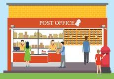 Stolpe - kontor stock illustrationer