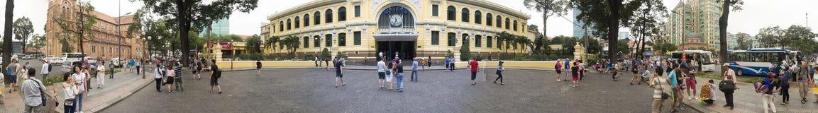 Stolpe - kontor i Ho Chi Minh - panorama 180 Arkivfoton