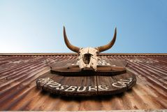 Stolpe - kontor i Randsburg, Kalifornien arkivfoton