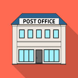 Stolpe - kontor Lagerför den enkla symbolen för post och för brevbäraren i plant stilvektorsymbol illustrationrengöringsduk vektor illustrationer