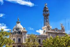 Stolpe - kontor - Valencia stil, byggande Spanien Arkivbild