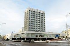Stolpe - kontorsstad Arkivfoto