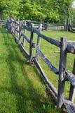 Stolpe- och stångstaketblått Ridge Parkway, Virginia, USA Royaltyfri Foto