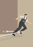 Stolpernd Unfall-Vektor-Illustration Stockbild