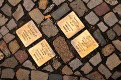 Stolperstein (Stumbling Block) in Berlin Royalty Free Stock Images