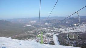 stolselevatorn skidar skiers lager videofilmer