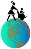 stolssjuksköterskahjul royaltyfri illustrationer