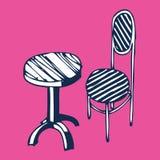 stolstabelltappning Stock Illustrationer