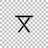 Stolsymbolsl?genhet vektor illustrationer