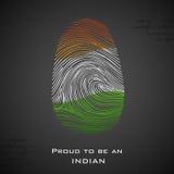 Stolt att vara en indier vektor illustrationer
