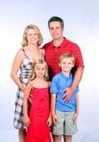 stolt familj Arkivbilder
