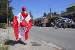 stolt kanadensare Royaltyfri Fotografi