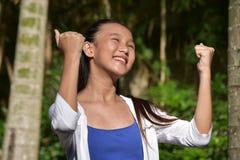 Stolt nätt asiatisk person arkivbild
