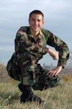 Stolt soldat Royaltyfria Bilder