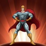 Stolt superhero Royaltyfri Fotografi