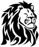 Stolta Lion Tribal Tattoo stock illustrationer