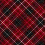 Stolthet av patte för diagonal tartan för textil för Wales tyg sömlös röd Royaltyfri Foto