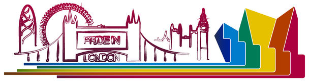 Stolthet i London Stock Illustrationer