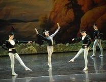 Stoltheten av clown-balett svan sjön fotografering för bildbyråer
