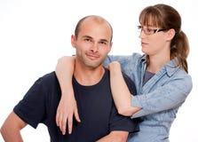 Stolz auf ihren Mann lizenzfreie stockfotos