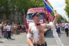 Stolz mit 2010 Homosexuellen in Paris Frankreich lizenzfreie stockbilder