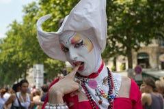 Stolz mit 2010 Homosexuellen in Paris Frankreich Stockbild