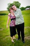 Stolze Mutter und Sohn stockfoto