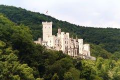 Stolzenfels slott på flodRhen Arkivbild