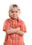 Stolzer kleiner Junge lizenzfreies stockfoto