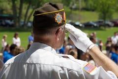 Stolzer Veteran lizenzfreie stockfotos