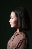 Stolzes asiatisches Mädchen der Schönheit Stockfoto