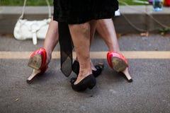 Stolzparade auf den Straßen Lizenzfreies Stockfoto