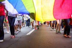 Stolzparade auf den Straßen Stockbilder