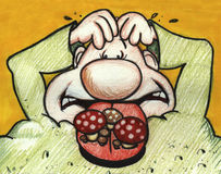 Stomach ache royalty free stock images