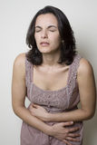 Stomach ache woman Royalty Free Stock Photography