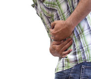 Stomach cramps Stock Image