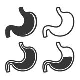 Stomach Icon Set on White Background. Vector Royalty Free Stock Photography