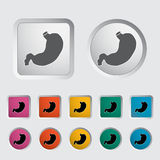 Stomach icon. Vector illustration EPS Royalty Free Stock Photos