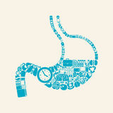 Stomach icon Stock Photography
