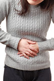 Stomach pain Stock Photography