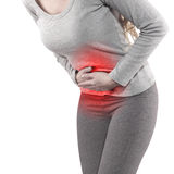 Stomach pain Stock Photo