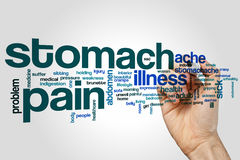 Stomach pain word cloud stock photo